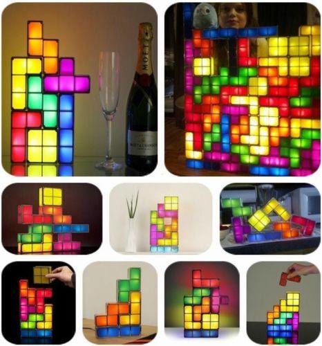 nerd lampe tetrislampe zum selber bauen gadgets. Black Bedroom Furniture Sets. Home Design Ideas