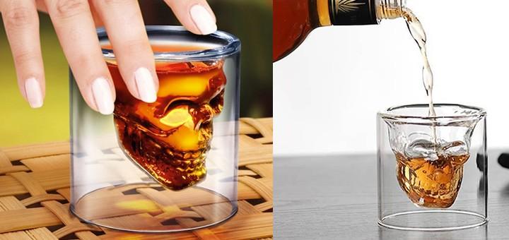 totenkopf glas schnapsglas