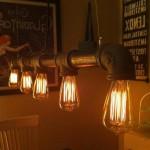 CMYK Antike Edison Vintage MasterGlobe Glühbirne Nostalgie und Retro Beleuchtung