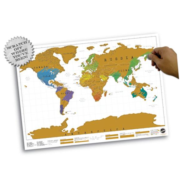 Weltkarte Kratzen