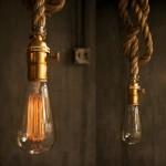 antike seilleuchte lampenhalter seil retro messing