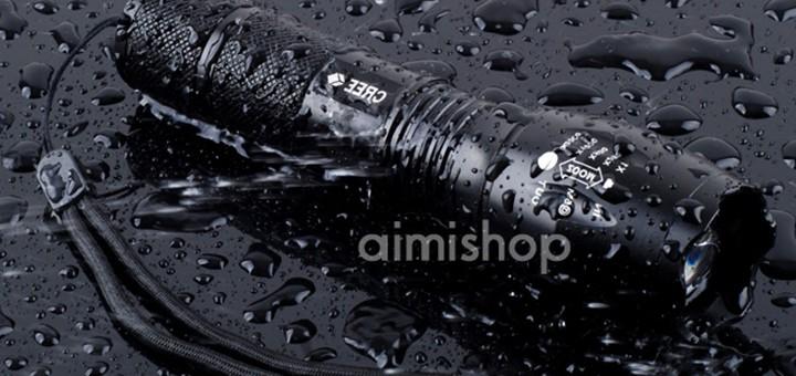 kompakte Taschenlampe mit CREE LED XM-L T6 U2