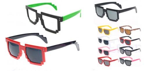 nerd pixel sonnenbrille