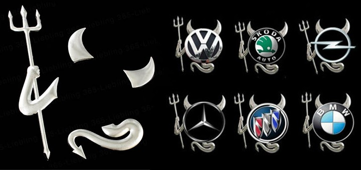 autoaufkleber teufel sticker auto dekor logo devil