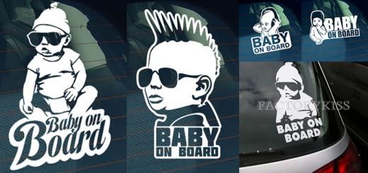lustige baby on board aufkleber sticker autoaufkleber
