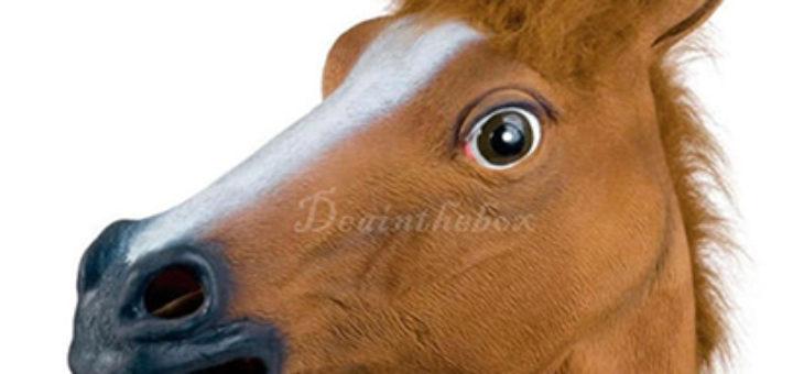 pferdmaske latexmaske pferd horse mask