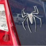 spiderman 3d emblem verchromt logo