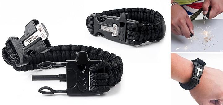 Survivalarmband Paracord-Armband feuerstarter pfeife outdoor gadget