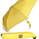VENKON Banane Taschenschirm Regenschirm Kinderregenschirm & bananenförmiges Etui
