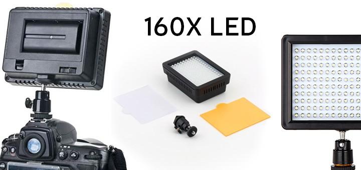 WanSen W160 LED Video Camera Licht Kamera Leuchte Lampe Für CANON NIKON HP