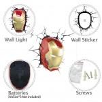 iron man mask wandlampe wanddeko led light 3d