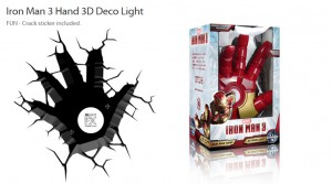 ironman iron man 3d hand light deco deko led
