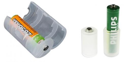 Batterie adapter konverter aaa auf a batterien enloop