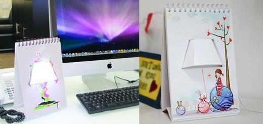 diy lampe usb notizblock licht page turner lamp schreibtisch kreativ