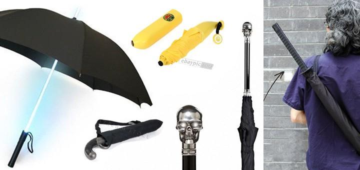 lustige nerd geek regenschirme laserschwert ninja