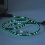 mikro usb ledkabel leuchtendes ladekabel samsung galaxy htc led kabel