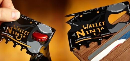 ninja wallet multitool kreditkarte geldbeutel