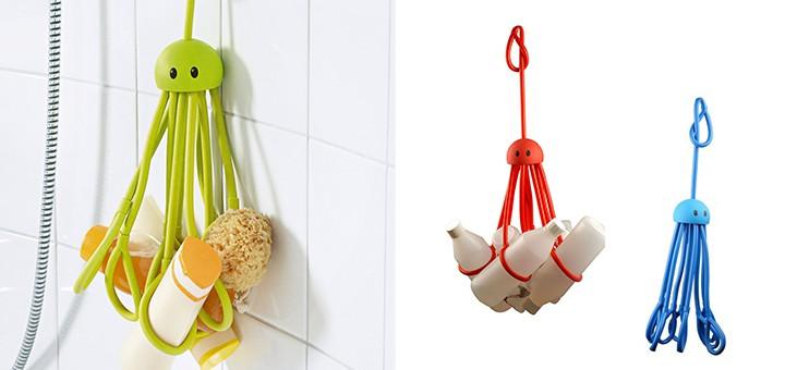 shampoohalter duschgelhalter octopus gadgets. Black Bedroom Furniture Sets. Home Design Ideas