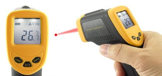 pyrometer Infrarot Thermometer mit Laser