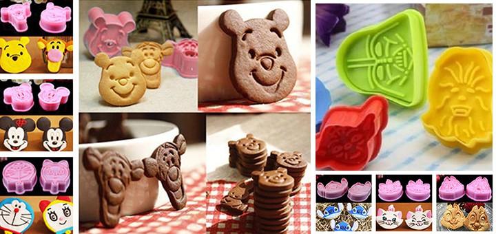 außergewöhnliche keksformen Plätzchenformen star wars winnie tiger mickey mouse