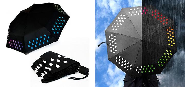 SUCK UK farbwechselnder Regenschirm