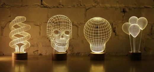 3d bulbing lampe led totenkopf