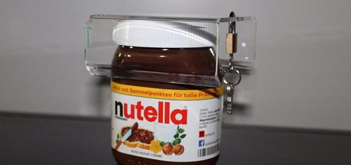 Nutella Schloss Schutz Nutella-Glas