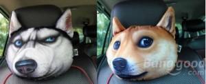doge auto kissen huskey